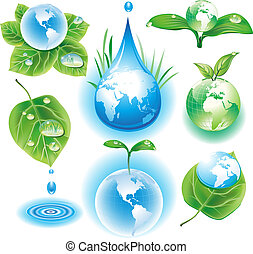 The concept of ecology symbols