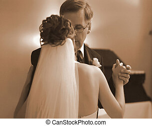father and daughter dancing on wedding day