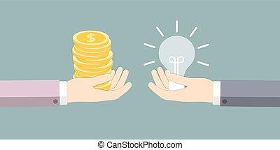 The exchange of ideas on the money