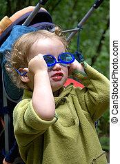 The kid in dark glasses