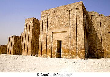 Image of the Perimeter Wall of the Step Pyramid of Djoser, Saqqara, Egypt.