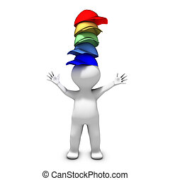 The person wearing many hats has a lot of different responsibilities
