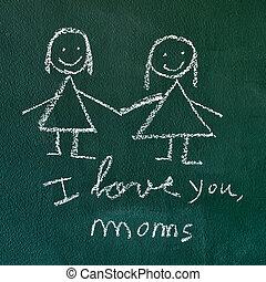 I love you, moms