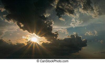 The sun is beautiful