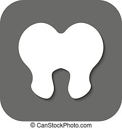 The tooth icon. Dentist and stomatology symbol. Flat