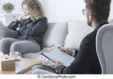 Therapist trying to help