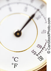thermometer in macro
