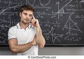 thinking teacher portrait