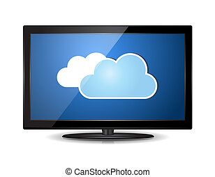 Cloud LCD TV Monitor