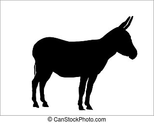 this is a silhouette from a donkey, vector