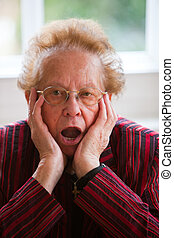 Thoughtful senior citizen