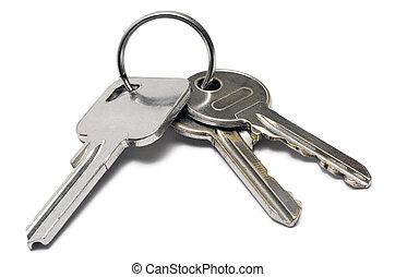 Three keys on a ring.