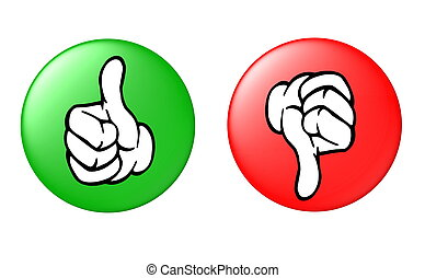 thumb up and down button