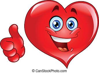Smiley thumb up heart