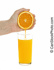 To wring out orange juice