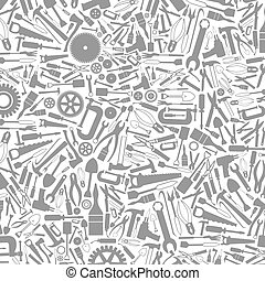 Grey background from tools. A vector illustration