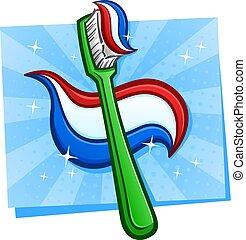 Tooth Brush Cartoon Illustration