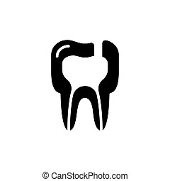 Tooth diseases periodontitis icon. vector illustration