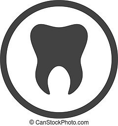 Tooth icon. Logo template of tooth. Dental symbol sign