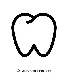 Tooth line icon. Dental symbol or sign.