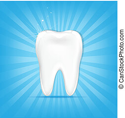 Tooth With Sunburst