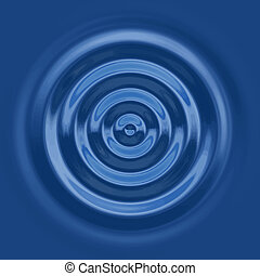 a top down view of the rings of a water ripple