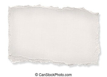 Torn off-white paper, ready for your message. Clipping path included.