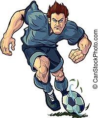 Tough Soccer Player Dribbling
