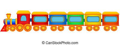 Train over white
