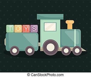 train with alphabet blocks toys