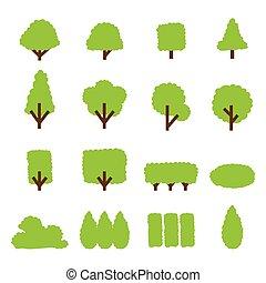 tree and bush icon