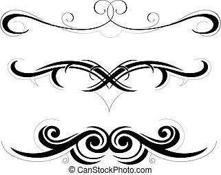 Set of decorative shapes