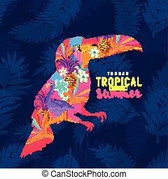 Tropical Summer Toucan