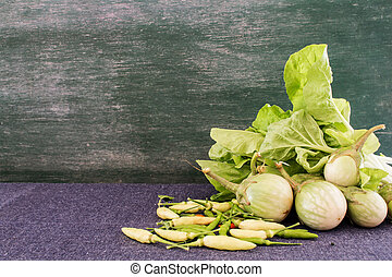 true vegetable set and chalkboard background