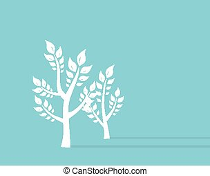 Ttree growth eco concept Background