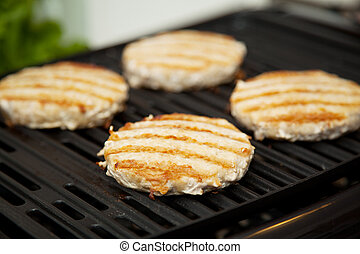 Turkey Burgers on the Grill