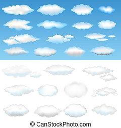 Twenty Six Clouds, Vector Illustration