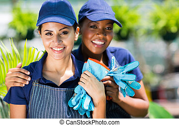 two female nursery workers