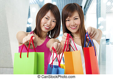 Two Happy Shoppers