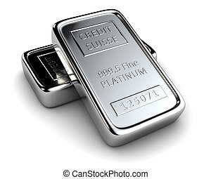 Two platinum ingots lie on each other