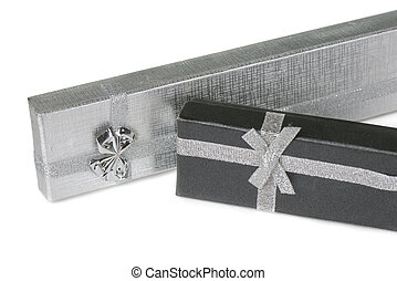 Two present boxes on white