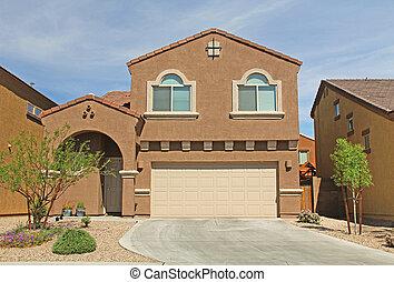Two-story Stucco Home in Tucson, Arizona