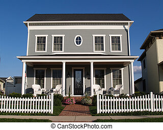 Two Story Vinyl Home With Historica