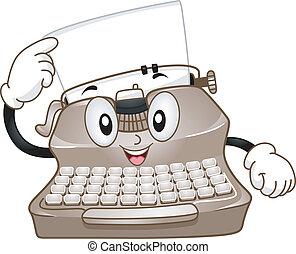 Typewriter Mascot