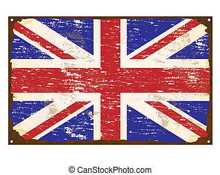 UK Flag Enamel Sign