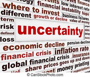 Uncertainty financial design