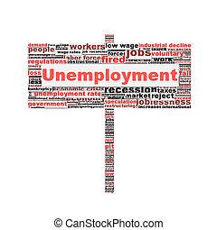 Unemployment symbol conceptual design