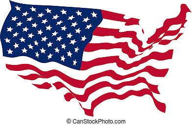 United States Shaped Flag background