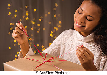 Unwrapping Christmas present