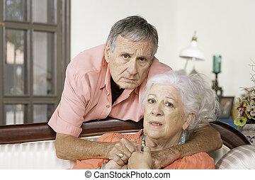 Upset Senior Man and Woman
